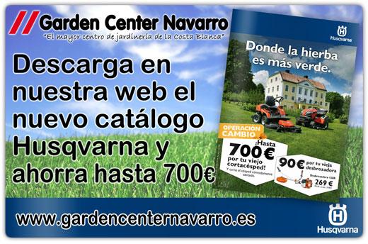 Folleto husqvarna primavera 2014 garden center navarro for Jardineria navarro